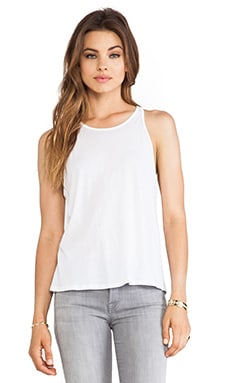 Tissue Jersey Crop Tank in White