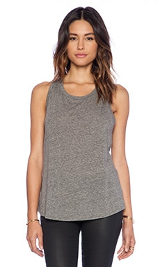 Enza Costa Racer Tank in Heather Grey