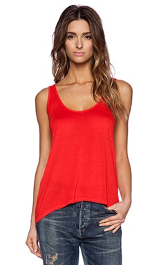 Enza Costa Scoop Tank in Coral