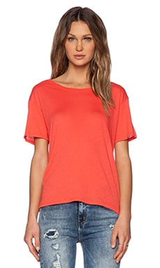 Enza Costa Boy Tee in Coral
