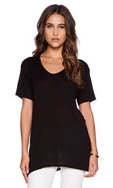 Enza Costa Shortsleeve Scoop Tunic in Black