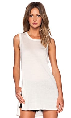 Enza Costa Silk Jersey Sleeveless Tunic in Sandshell