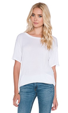 Enza Costa Silk Jesey Easy Crew Tee in White