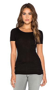 Enza Costa Rib Tee in Black