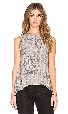 Enza Costa Sleeveless Trapeze Top in Limestone Etch