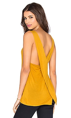 Enza Costa Overlap Back Tank in Saffron