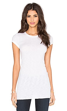 Enza Costa Rib Fitted Cap Sleeve Top in Cloud
