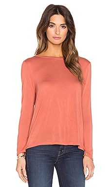 Bracelet Sleeve Crew Neck Top in Terracotta