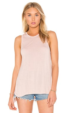 Silk Rib Jersey Side Slit Sheath Tank in Nirvana