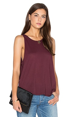 Enza Costa Tissue Jersey Sheath Tank in Port