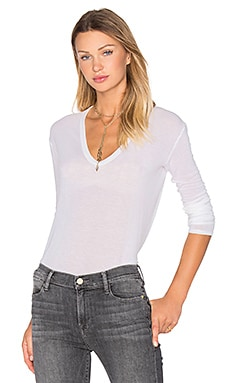 Enza Costa Loose Long Sleeve Top in Winter White