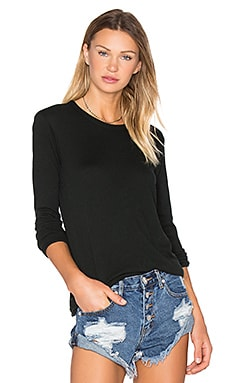 Enza Costa Cashmere Loose Crew Neck Top in Deep Forest