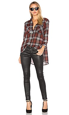 Hi Lo Shirt in Russet Plaid