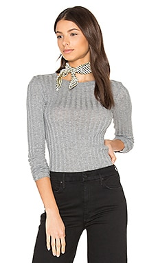 Cashmere Rib Long Sleeve Tee in Smoke
