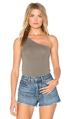 One Shoulder Tank in Sage