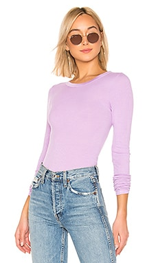Rib Fitted Crew Neck Top Enza Costa $134