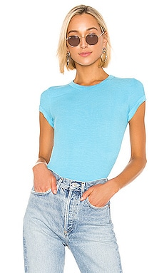 Rib Cap Sleeve Top Enza Costa $139