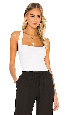 Military Cotton Rib Cropped Cross Back Tank Enza Costa $110 BEST SELLER