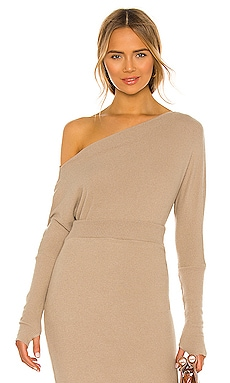 Sweater Knit Slouch Top Enza Costa $165 BEST SELLER