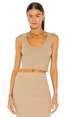 Rib Sweater Knit Cropped Scoop Tank Enza Costa $110