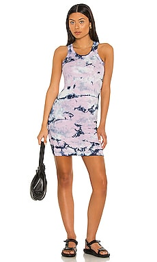 Layla Tank Dress Electric & Rose $118 NEW