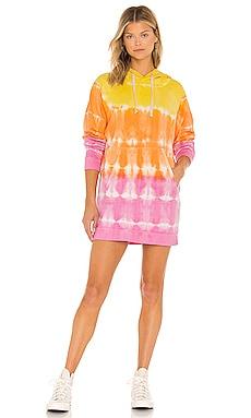 Malibu Hoodie Dress Electric & Rose $68