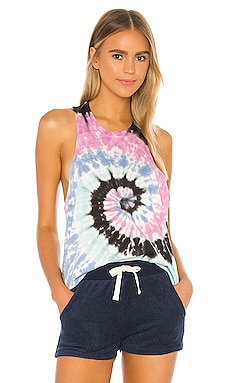 Bodie Twist Tank Electric & Rose $84