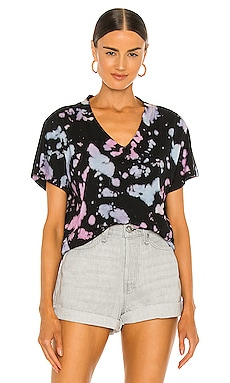 Strata Vneck Tee Electric & Rose $98