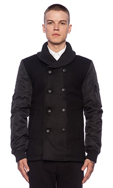 Eleven Paris Kash Peacoat in Black
