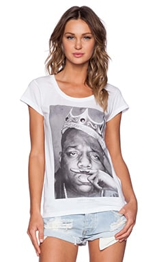 Eleven Paris Biggie Mustache Tee in White