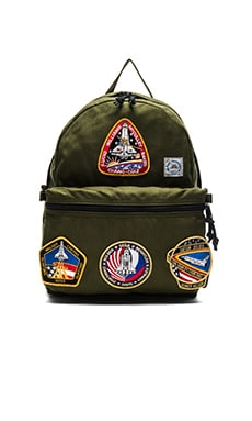 Epperson Mountaineering Day Pack with Vintage Nasa Patch in Moss