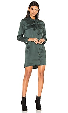 Leema Tie Neck Dress in Scarab