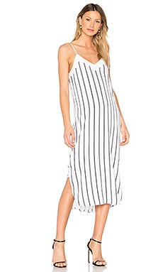 Dian Striped Dress in Bright White & Eclipse