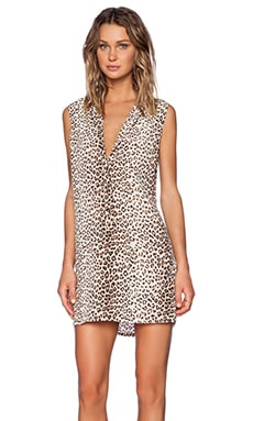 Equipment Lucida Sleeveless Leopard Print Dress in Natural Multi
