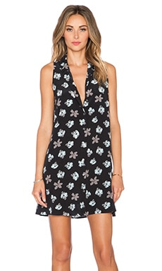 Equipment Mina Petunia Printed Dress in True Black Floral