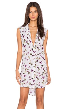 Equipment Attic Floral Sleeveless Slim Signature Dress in Vapor