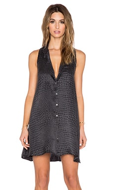 Equipment Arctic Crocodile Mina Dress in True Black