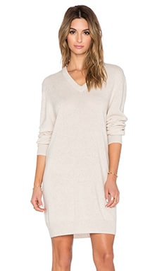 Equipment Eunice Cashmere Sweater Dress in Heather Oatmeal