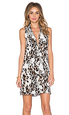 Equipment Ludlow Leopard Mina Dress in Ecru Multi