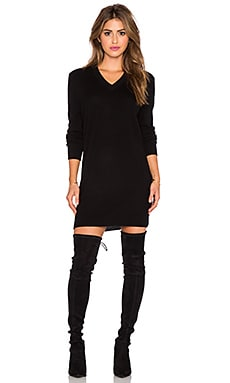 Eunice Cashmere Sweater Dress in Black