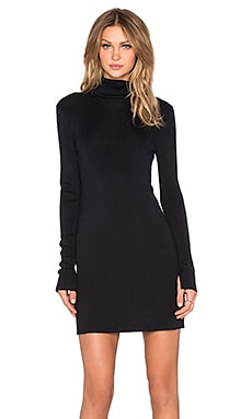 Equipment Cathleen Silk Elastane Turtleneck Dress in Ink