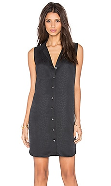 Equipment Adalyn Modeled Crocodile Sleeveless Dress in True Black