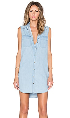 Equipment Sleeveless Slim Signature Dress in Sky Blue