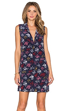 Equipment Lucida Sleeveless Floral Print Dress in Peacoat Multi