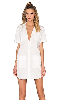 Remy Utility Dress in Bright White