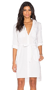 Equipment Short Delany Dress in Bright White