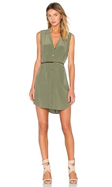 Equipment Sleeveless Adalyn Dress in Army Jacket