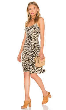 Kate Moss for Equipment Jessa Cheetah Print Slip Dress in Natural