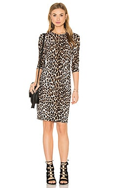 Marla Cheetah Print Sweater Dress in Natural
