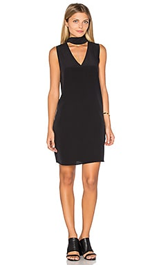 Phaedra Silk Tie Neck Dress